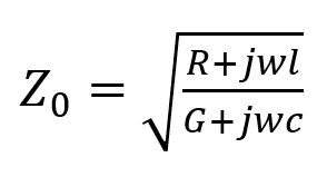 فرمول مشخصه خط انتقال